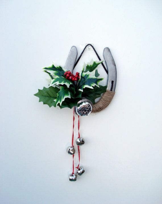 Holly  Decorated Holiday Horseshoe Western Decor by DreamersGifts, $20.00