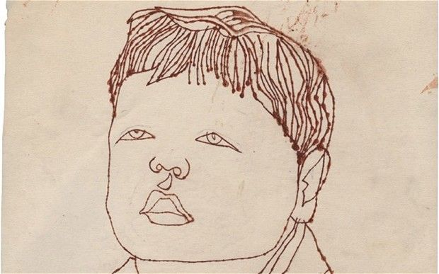 Andy Warhol drawing from the 1950s