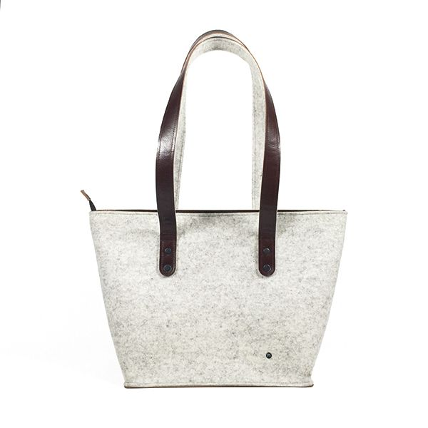 shoulder bag - ANNA - white melange 1