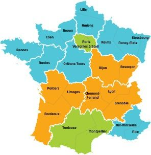 Vacances scolaires 2020 - Calendrier officiel 2019-2020 en France | Map, School