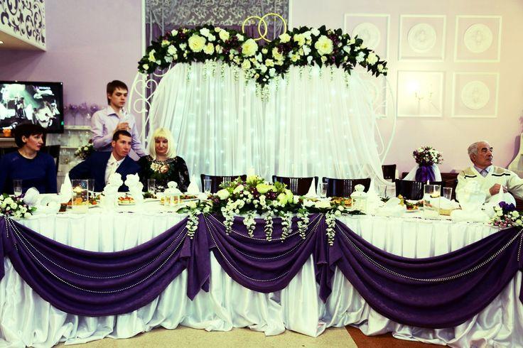 Свадебный декор в фиолетовых тонах