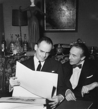 George Balanchine conferring with Lincoln Kirstein, who invited him to co-found a new American ballet company after seeing his choreography in Europe.