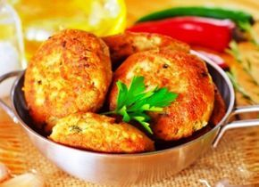 Вегетарианские котлеты в духовке
