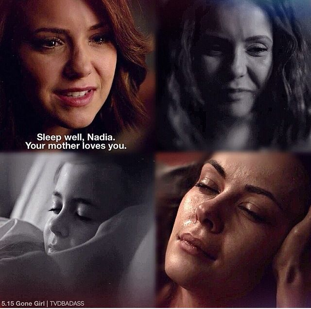 And just when I thought that something romantic may start between Nadia and Matt when Katherine dies BOOM! She's dead.