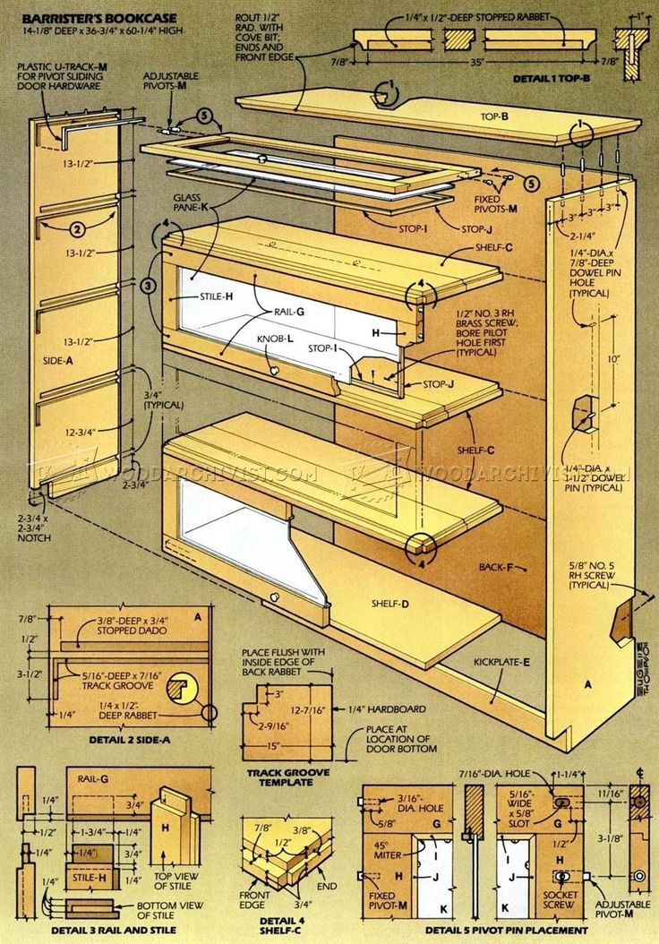 #2101 Barristers Bookcase Plans - Furniture Plans
