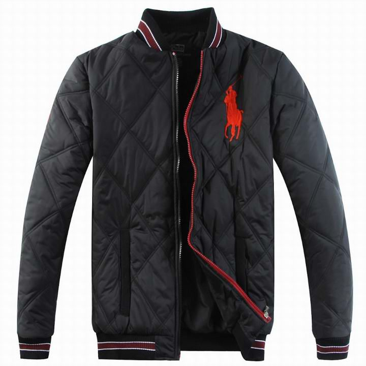 Polo Ralph Lauren Down Jacket Men Stripe-Collar Black [Down ...