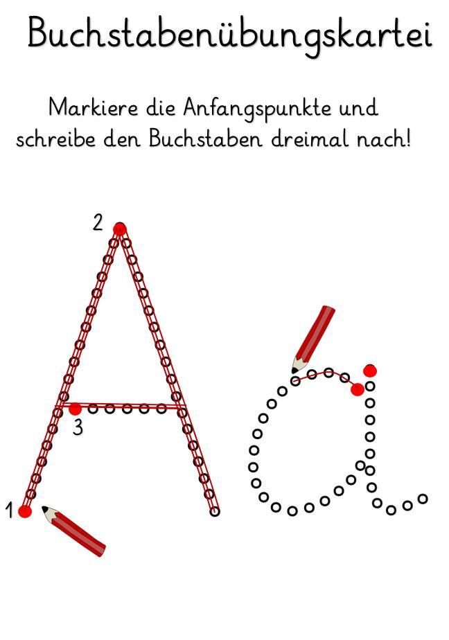 Kruschkiste: Buchstabenübungskartei