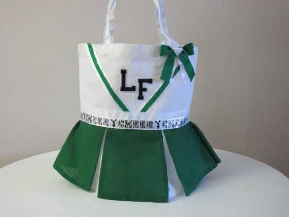 Cheerleading Tote Bag by ExpressYourselfTotes on Etsy