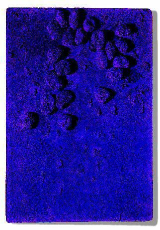 Yves Klein: have kids soak sponges in paint and attach to board.