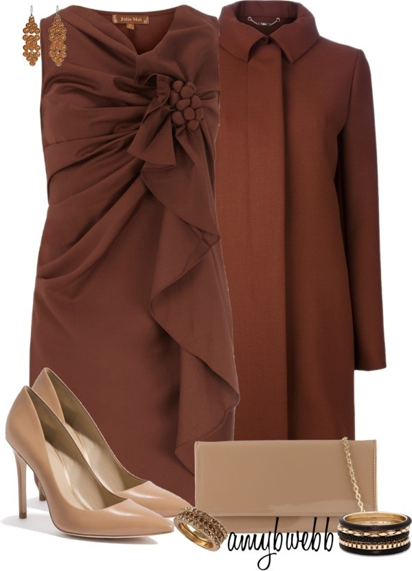 """""""Brown, Brown, and more Brown"""" by amybwebb on Polyvore"""