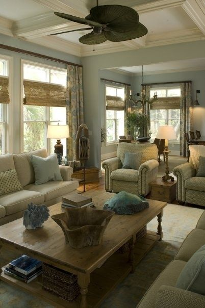 blinds, wood bowl, sofa