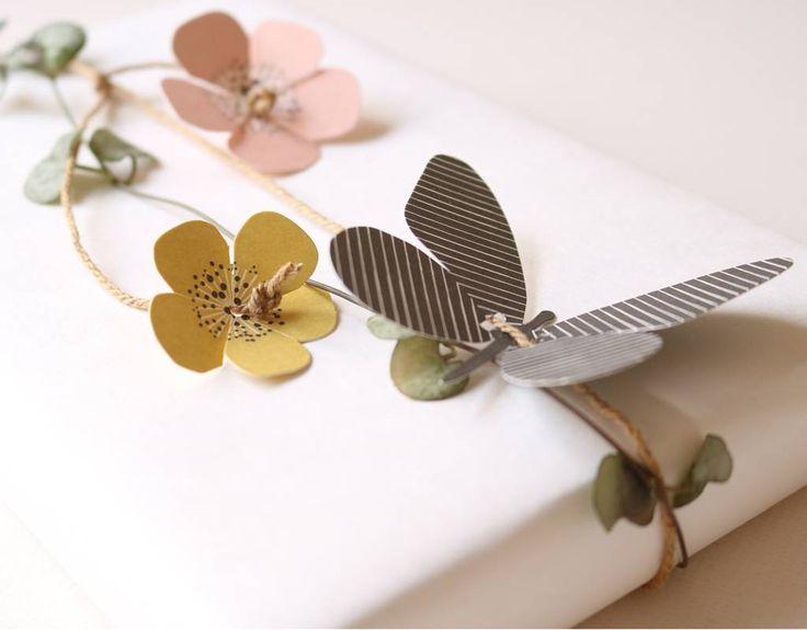 Paper butterflies and flowers | fields of joy