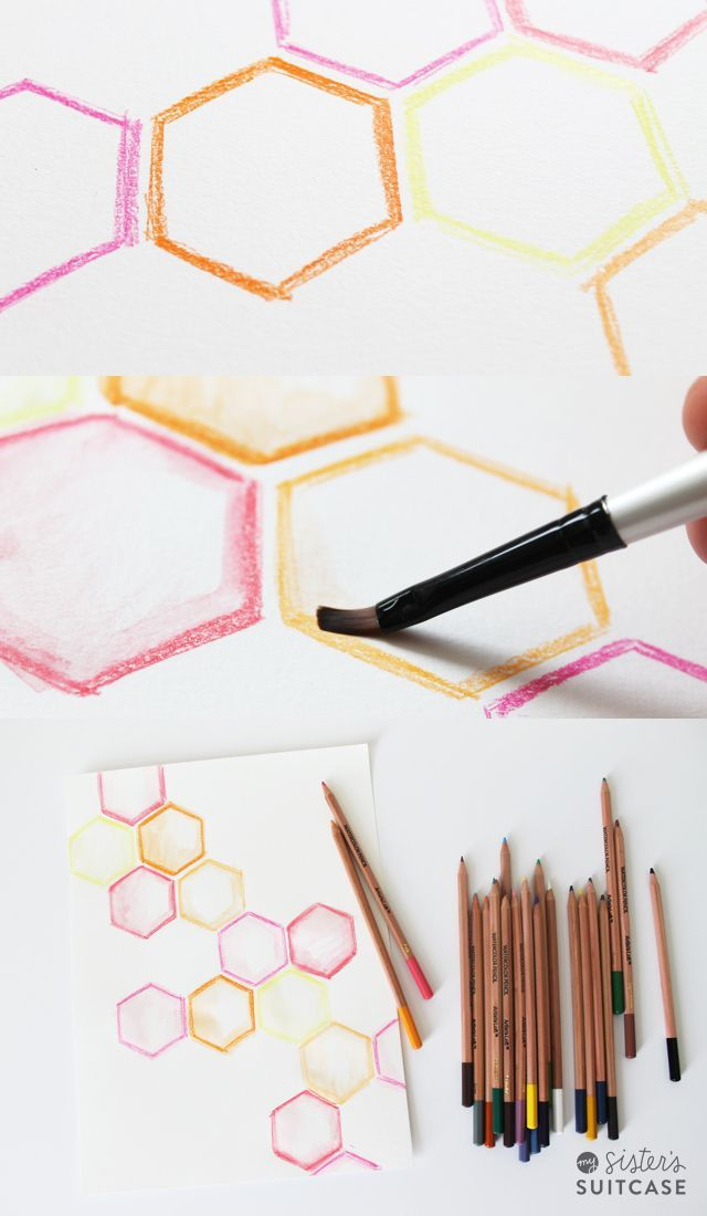 DIY Watercolor Art (The Easy Way). Use this technique to create amazing watercolors even if you have no painting experience!! -- Tatertots and Jello #DIY #Art