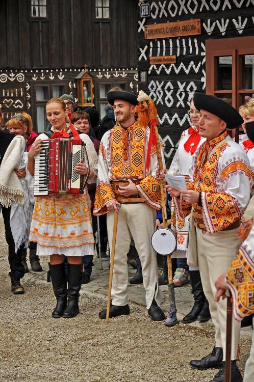 Čičmany village, Považie region, Western Slovakia.