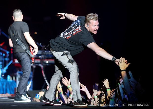 Rascal Flatts performs at Bayou Country Superfest in the Superdome on Saturday, May 27, 2017.