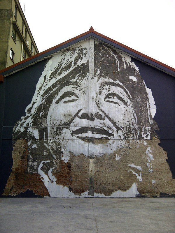 STREET ART UTOPIA » We declare the world as our canvas » china. By Vhils. In Shanghai, China. Photos by Karolina Sierska...