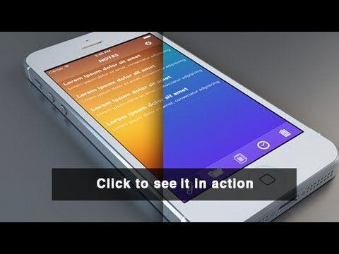 Layerblur - An iOS 7 Design Template