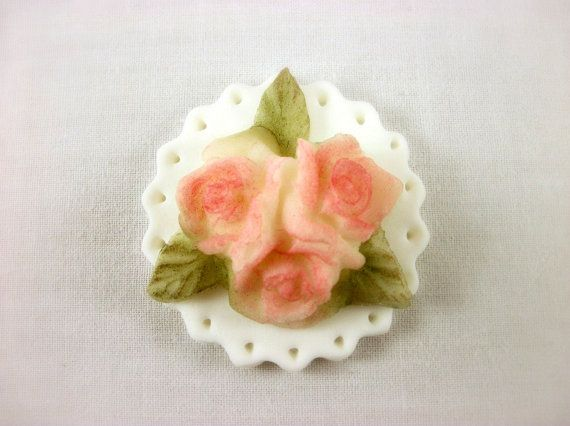 12 Rose Cupcake Fondant Topper, Wedding Cupcake Topper, Rose Fondant Decoration, Anniversary Toppers, Engagement Cupcakes