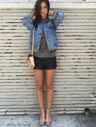 Vestes en jean > inspirées par Emily Ratajkowski