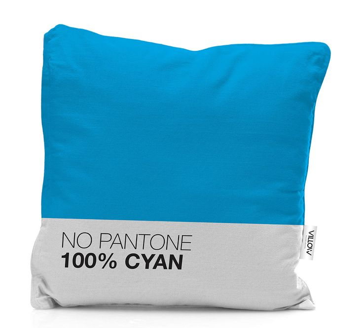 Lisbon-based designer Andreia Constantino created a cheeky pillow series called No Pantone. The square throw pillows are available in cyan, magenta, yellow, black and white, proving to add a colourful punch to any couch.  #pantone #pillow #design