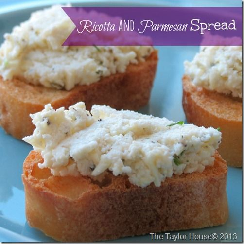 Ricotta and Parmesan Spread Recipe