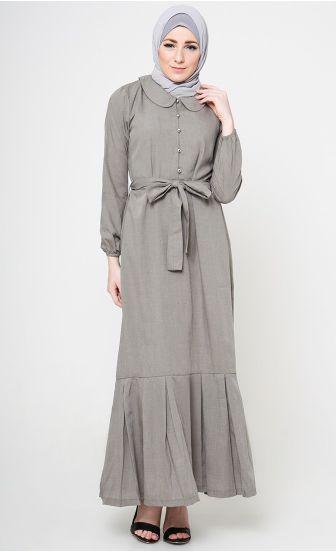 Model Long Dress Muslim Polos Paling Menarik