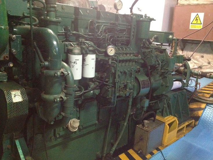 Engines and generators of ship