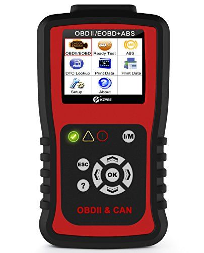 Kzyee KC401 OBDII OBD2 Scanner ABS Diesel or Gas Engine Diagnostic Code Reader Support Five Protocols [CAN Bus,J1850 VPW,ISO 9141-2,J1850 PWM,ISO 14230 KWP] Read Clear Trouble Codes Reset Monitor. For product info go to:  https://www.caraccessoriesonlinemarket.com/kzyee-kc401-obdii-obd2-scanner-abs-diesel-or-gas-engine-diagnostic-code-reader-support-five-protocols-can-busj1850-vpwiso-9141-2j1850-pwmiso-14230-kwp-read-clear-trouble-codes-reset-monitor/