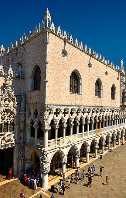The Doge's Palace on St Marks Square, Venice, Italy - Luxurious seat of the powerful rulers of the Republic of Venice