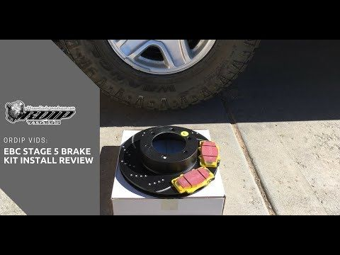 ORDIP VIDS: EBC STAGE 5 Brake Kit Install Review - YouTube