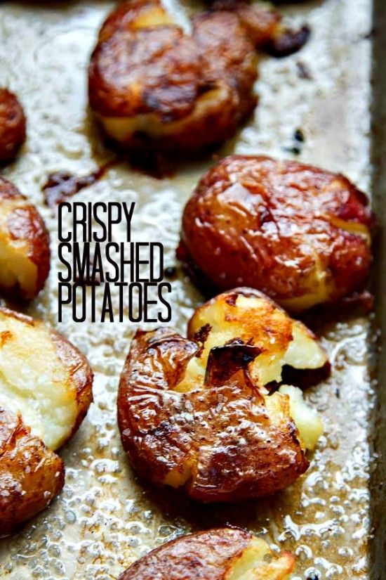 Sexy-Ugly Crispy Smashed Potatoes! Smashed Potatoes can be made mostly ahead of time then just toss them in the oven!