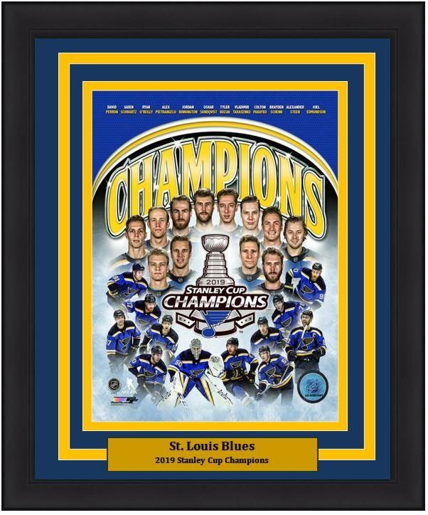 St Louis Blues Stanley Cup Champions 2019 Framed Photos