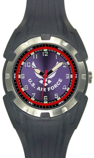airforce steel force pilotshop s u leather branches stainless with military bands air watches