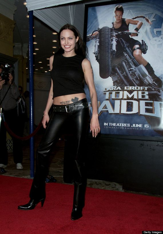 Angelina Jolies Leather Pants Remind Us Of Her Wild Child Days (PHOTOS)