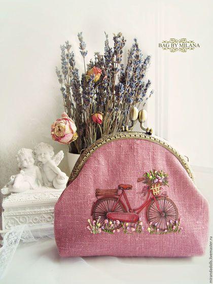 """Купить Кошелёк """"Летний день"""" - розовый, кошелек ручной работы, кошелек женский, кошелек с фермуаром"""