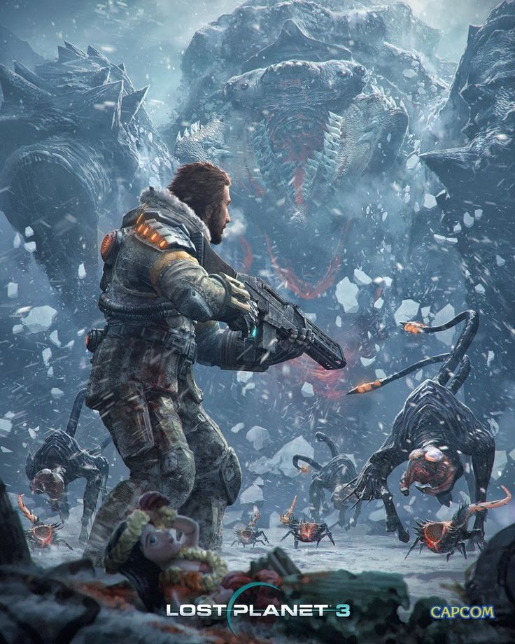 Key art for Spark Unlimited/Capcom's Lost Planet 3.