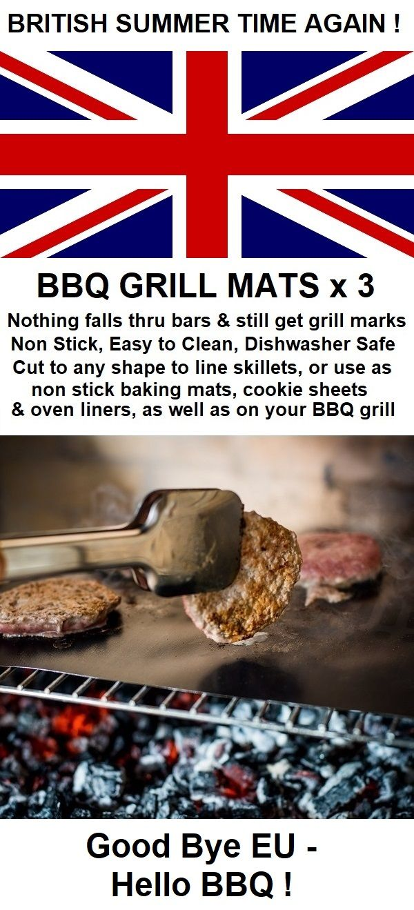 "BBQ GRILL MATS NON STICK Set of 3 Reusable 16"" x 13"" Large, Dishwasher Safe, Easy to Clean Cooking Mats for Charcoal Grill & Gas Grills. Best Grilling Mat for Barbecue, Outdoor & Oven Use. PFOA Free."