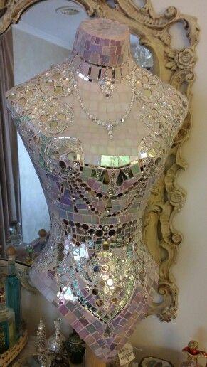 French boudoir  crystal  corsette mosaic