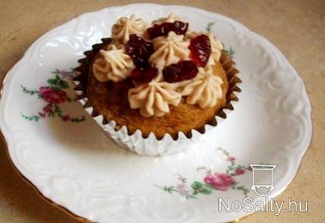Sütőtök muffin áfonyával