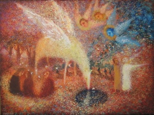 Авторские галереи - Маркова Елена Владимировна / ковер ясной ночи / Живопись…