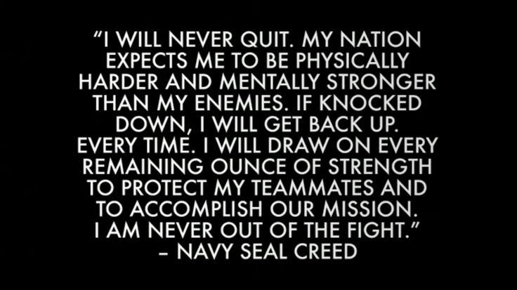 Navy Seal Creed