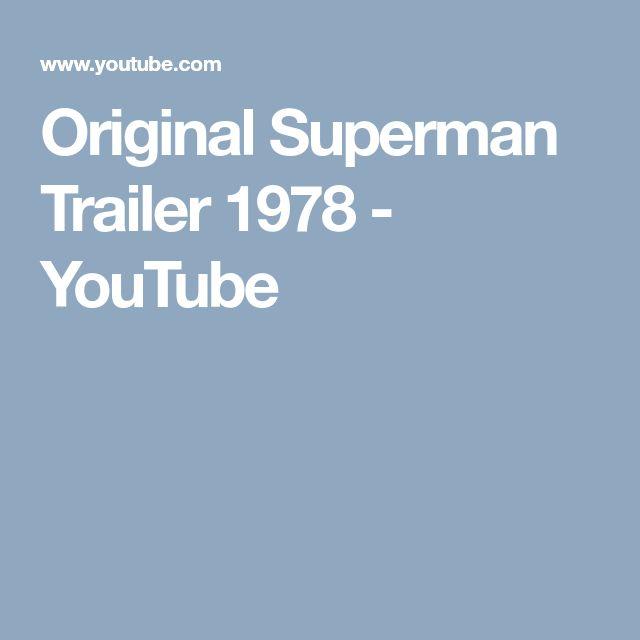 Original Superman Trailer 1978 - YouTube