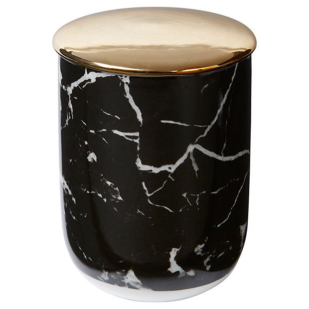Lisa T Candle - Black Marble