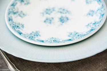 Lyseblå delikat - Delicious light blue #borddekking #table setting #wedding #party #selskap #bryllup #konfirmasjon #dåp #rörstrand #utleie