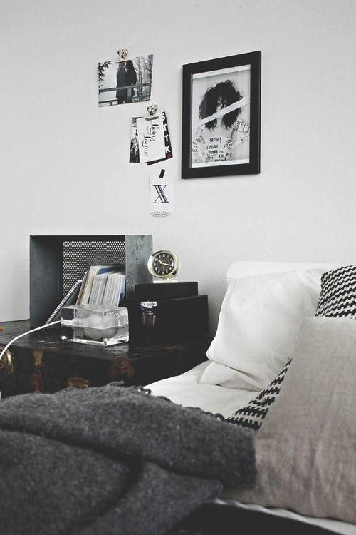 Black And White Bedroom Nice Vintage Items