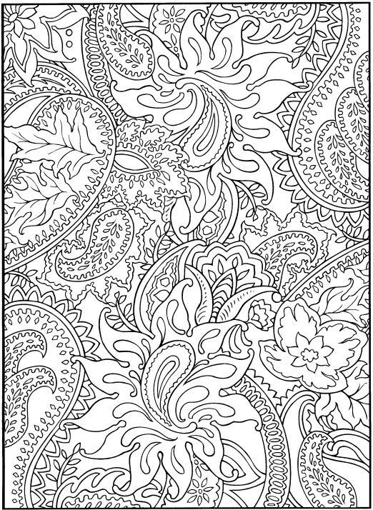 Paisley Print Coloring Pagegreat Special Time For Shea Me