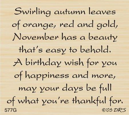 November Birthday Greeting                                                                                                                                                                                 More