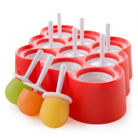 Zoku Mini Slow Pop Freezer Mould - Teeny pops for everyone, we say. The Zoku Mini Slow Pop mould makes nine mini pops, in one easy lesson. Just fill with the contents of your choice, and pop in the freezer for another day. These little guys are about the size of an apricot, making them perfect for small hands. They make excellent boozy, grown up pops, too, in case you were wondering.