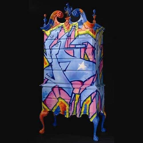 Best Graffiti Furniture Ideas On Pinterest Graffiti Room - Street artist turns street furniture into characters