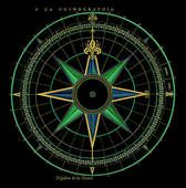 Drawing of Antique Compass Rose (hand-colored copper engraving) cmpas_13 - Search Clipart, Illustration, Fine Art Prints, and EPS Vector Graphics Images - cmpas_13.jpg